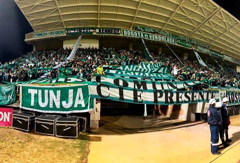 Boyacá Chicó 0 - 3 Atlético Nacional, hinchada, Liga 2020-I