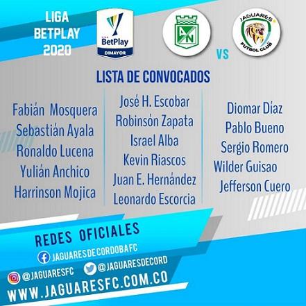 Convocados Jaguares FC