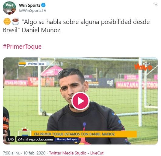 Daniel Muñoz, Win Sports