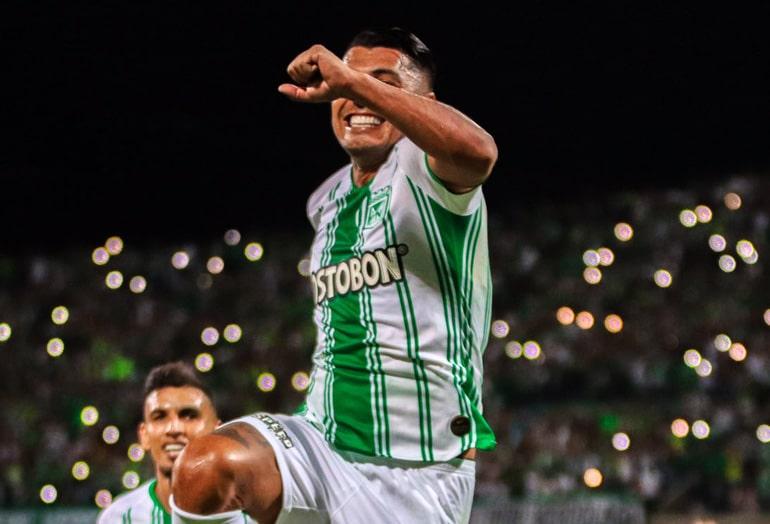 Jéfferson Duque, Atlético Nacional 2 - 0 Deportivo Pereira, Liga 2020-I (3)