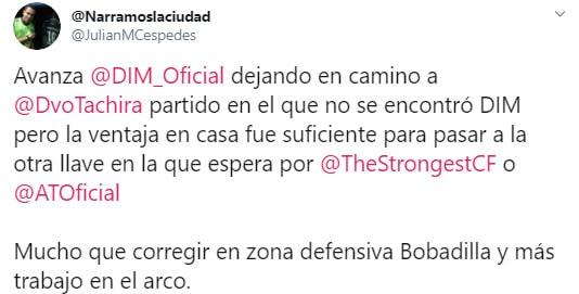 Julián Céspedes, Táchira 2 - 0 Medellín, Copa Libertadores 2020