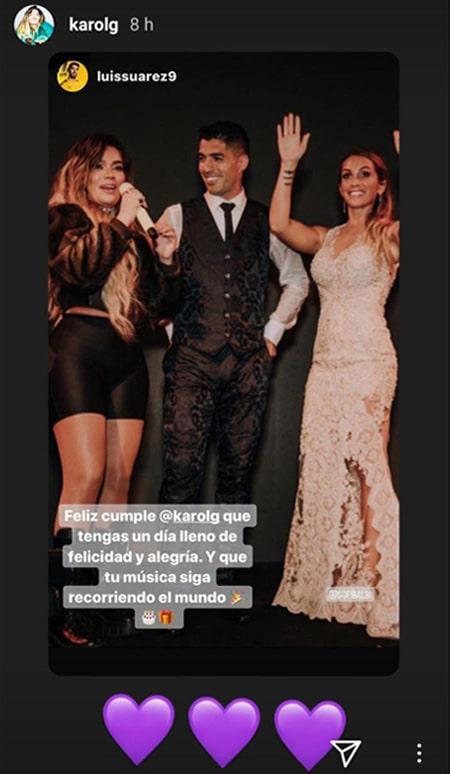 Karol G, Luis Suárez, Instagram