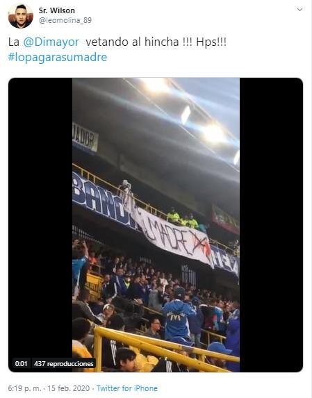 ¿Quién mandó quitar el cartel #LoPagaráSuMadre en El Campín? 1