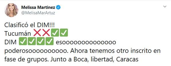 Melissa Martínez, Medellín, Copa Libertadores 2020