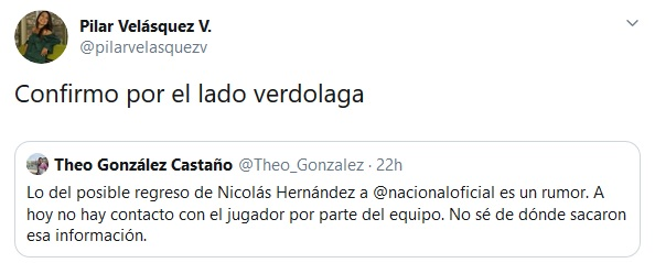 Neyder Moreno, Nicolás Hernández