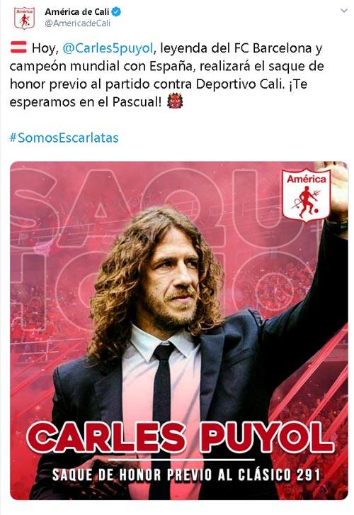 América de Cali Carles Puyol