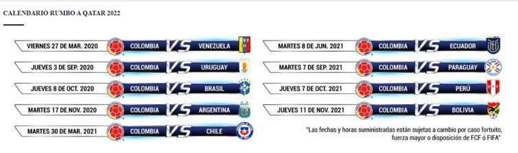 Boletería para los juegos de Colombia en las Eliminatorias a Catar 2022 2