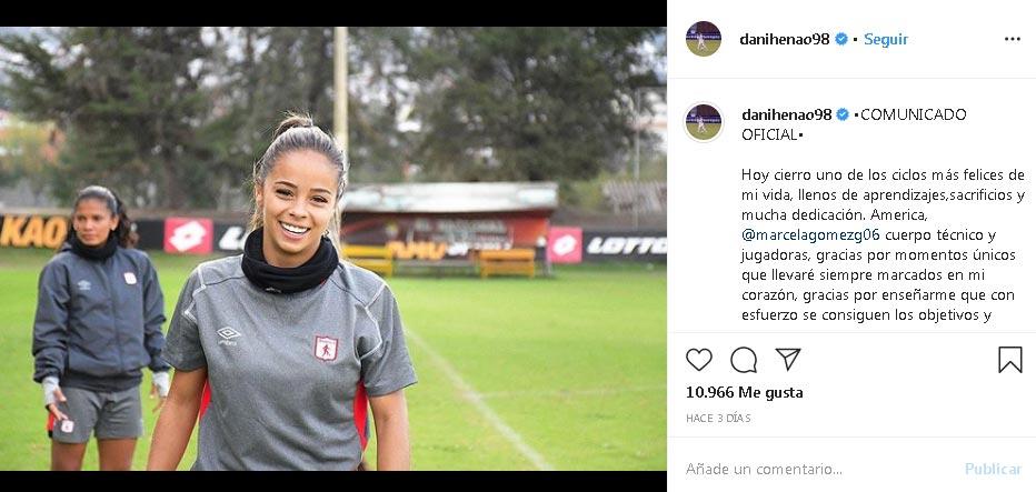Daniela Henao América de Cali