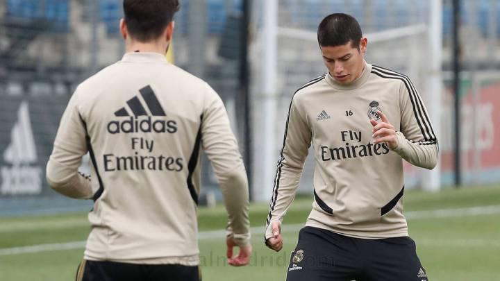James Rodríguez, fuera del Real Madrid vs. Barcelona | Futbolete.com