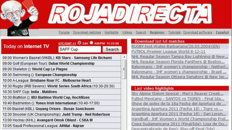 Roja Directa Pagina Para Ver Futbol En Vivo Gratis Internet