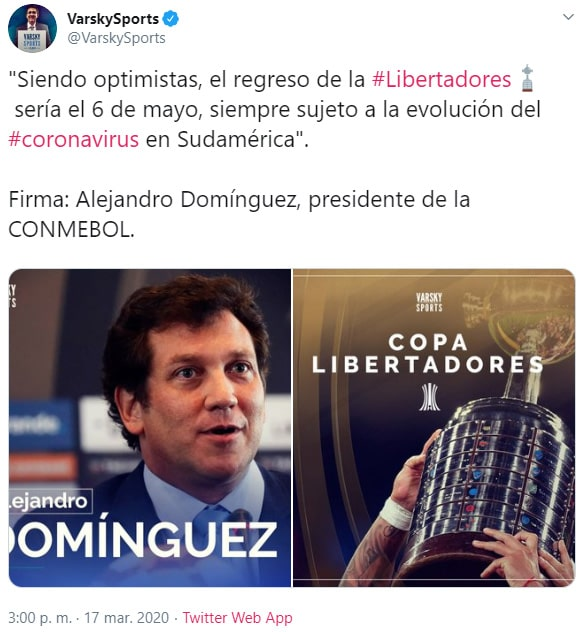 Alejandro Domínguez, Copa Libertadores 2020, reanudación