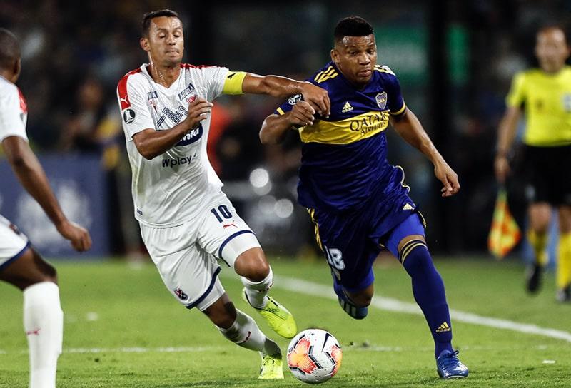 Andrés Ricaurte, Frank Fabra, Boca Juniors vs. Medellín, Copa Libertadores 2020