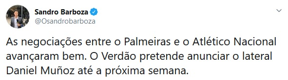 Atlético Nacional, Daniel Muñoz, Palmeiras