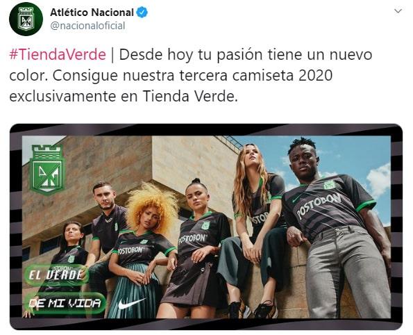 Atlético Nacional, nueva camiseta