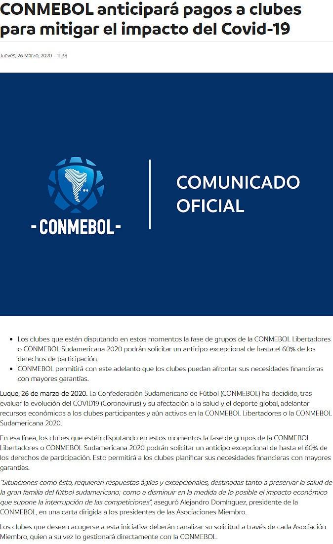 Conmebol, Deportivo Independiente Medellín, Copa Libertadores 2020, coronavirus COVID-19