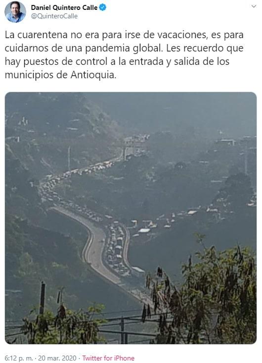 Daniel Quintero, Twitter