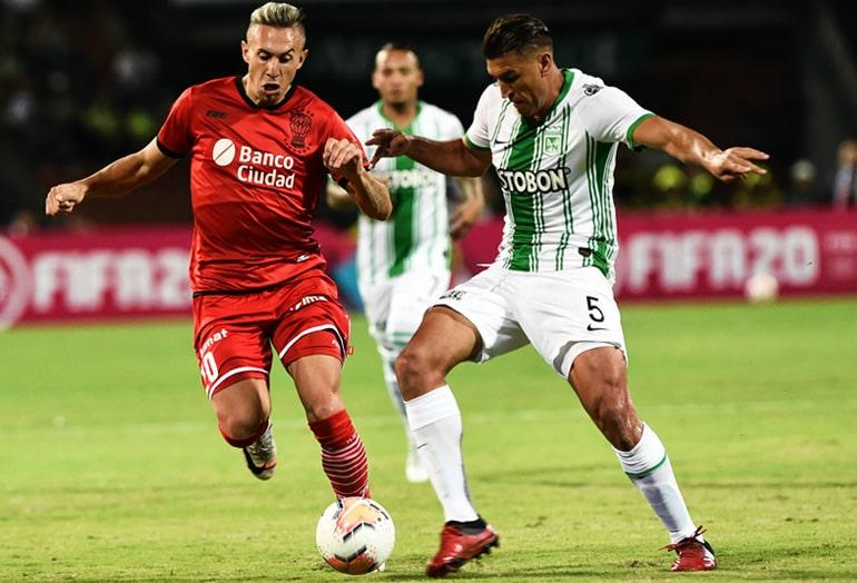 Diego Braghieri, Atlético Nacional 3 - 0 Club Atlético Huracán, Copa Sudamericana 2020