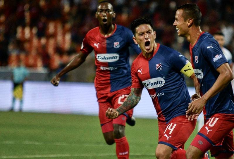 Germán Cano, Andrés Ricaurte, DIM 3 - 0 Patriotas Boyacá, Liga Águila 2019-II