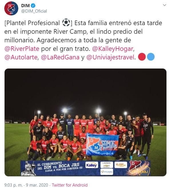 Juan Fernando Quintero, Medellín, Twitter (1)