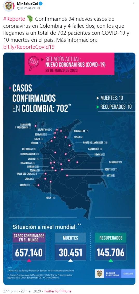 Ministerio de Salud, coronavirus COVID-19, informe, 29/03/2020