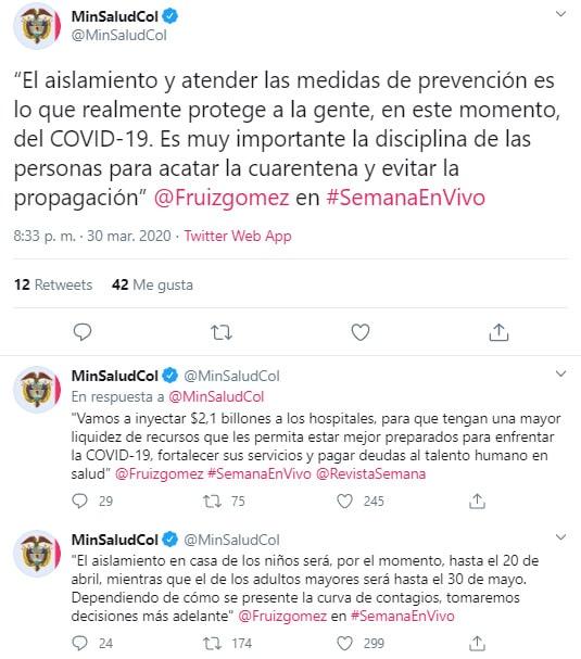 Ministerio de Salud, coronavirus COVID-19, nuevas medidas
