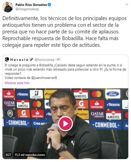 Pablo Ríos González, Aldo Bobadilla, crítica