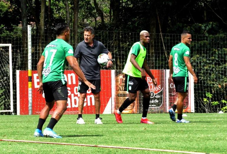 Sebastián Gómez, Juan Carlos Osorio, Atlético Nacional, entrenamiento