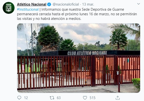 Equipos del fútbol colombiano que paran por el coronavirus 5