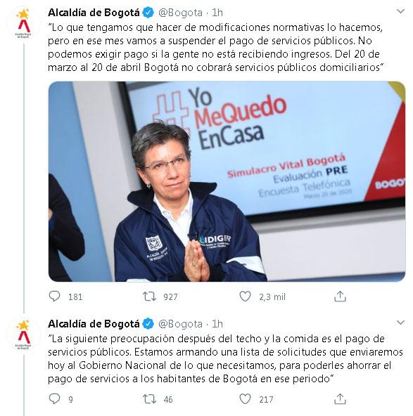 Claudia López Bogotá Coronavius