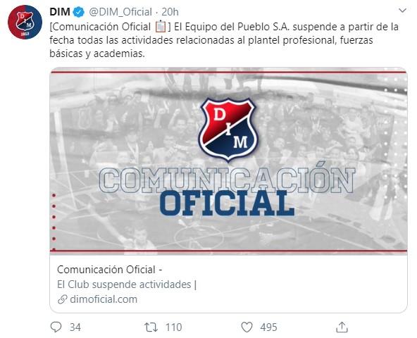 Equipos del fútbol colombiano que paran por el coronavirus 1