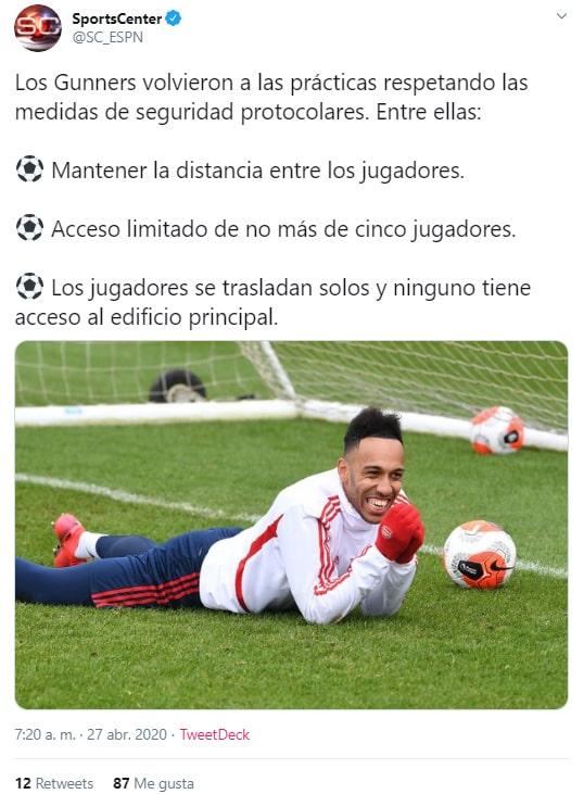 Arsenal FC, Premier League, Inglaterra, coronavirus COVID-19 (2)