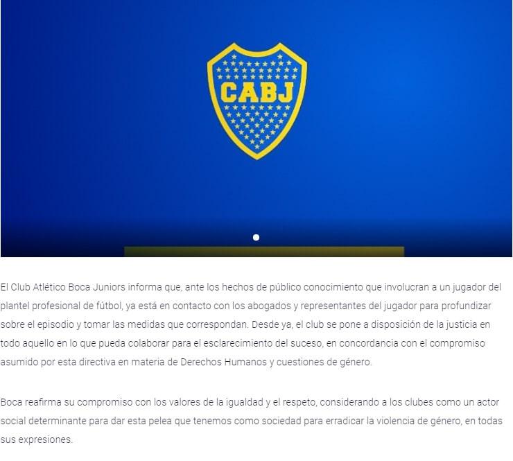 Boca Juniors, Sebastián Villa, Daniela Cortés, agresión (2)