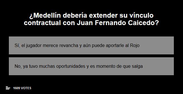 ¿Juan Fernando Caicedo debe continuar en Deportivo Independiente Medellín?