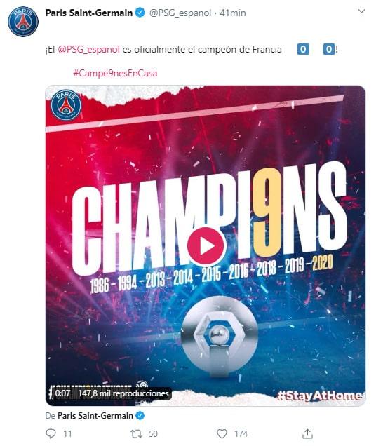Paris Saint-Germain, Ligue 1 2019-20, campeón