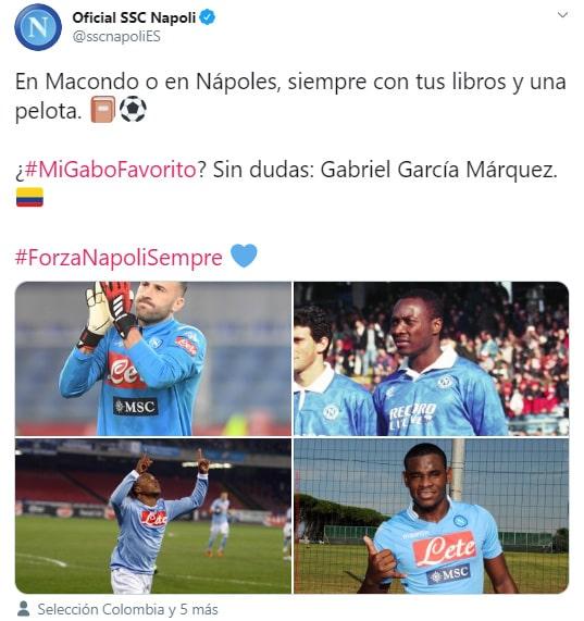 SSC Napoli, Gabriel García Márquez, Twitter