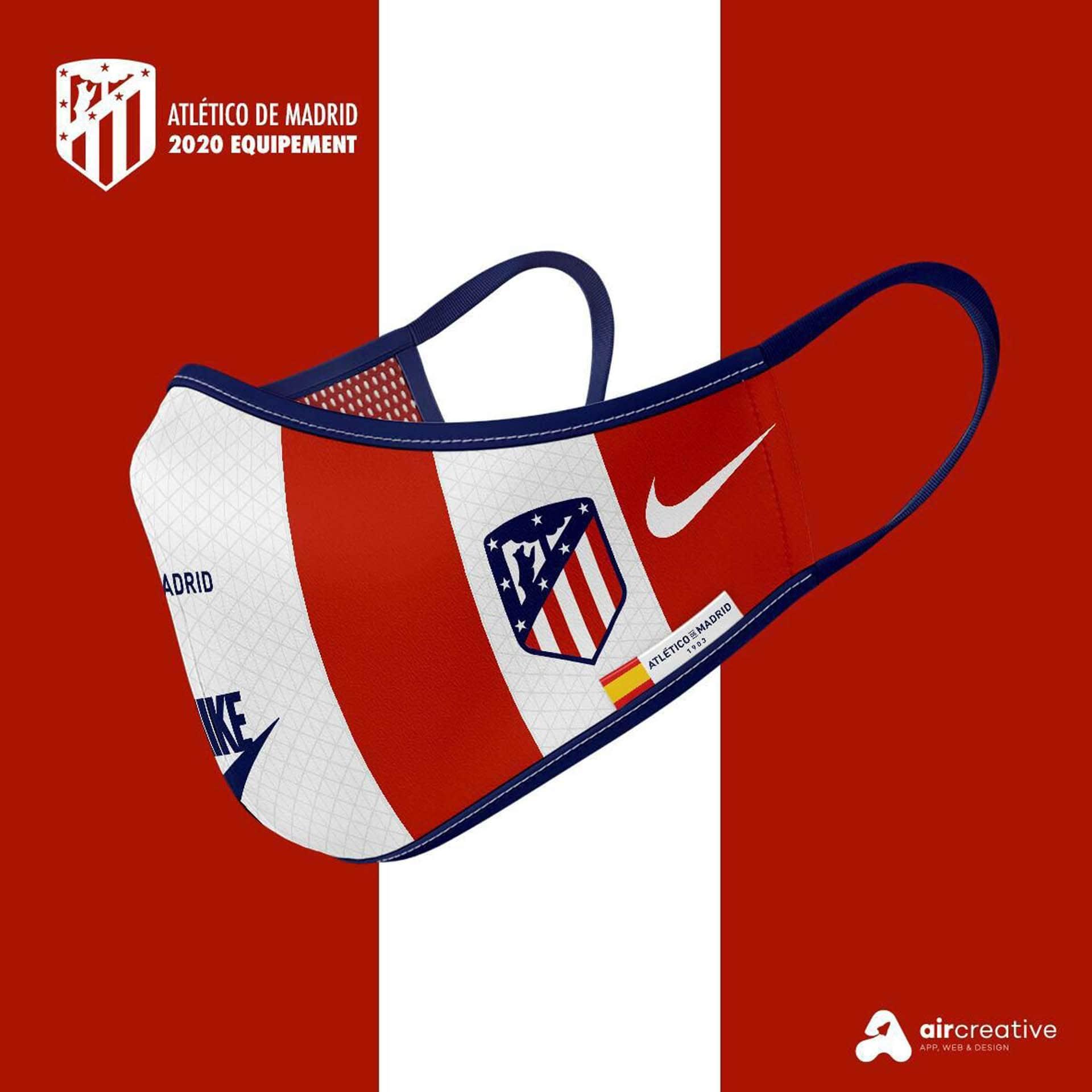 Así serían los tapabocas personalizados para los equipos españoles 3