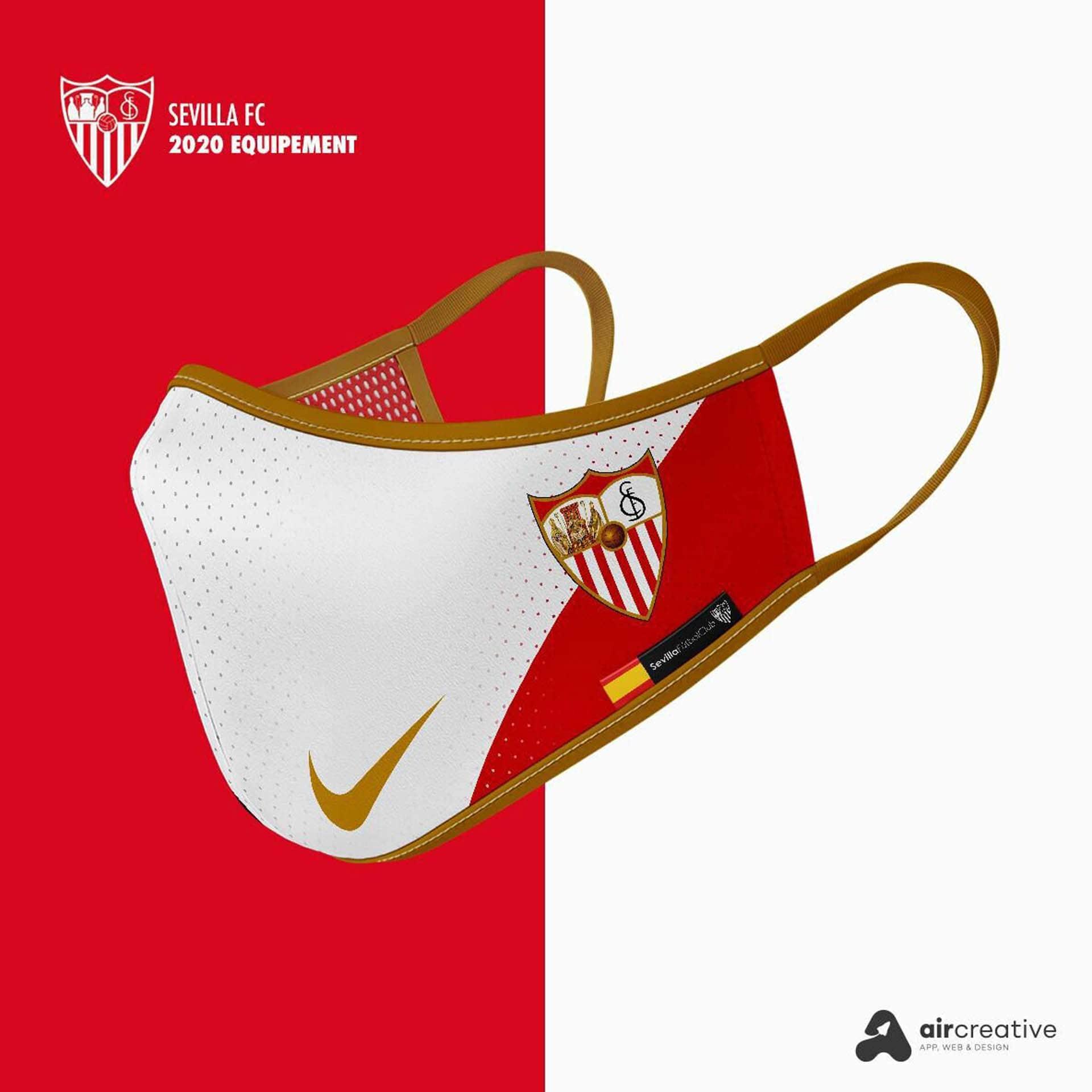 Así serían los tapabocas personalizados para los equipos españoles 2