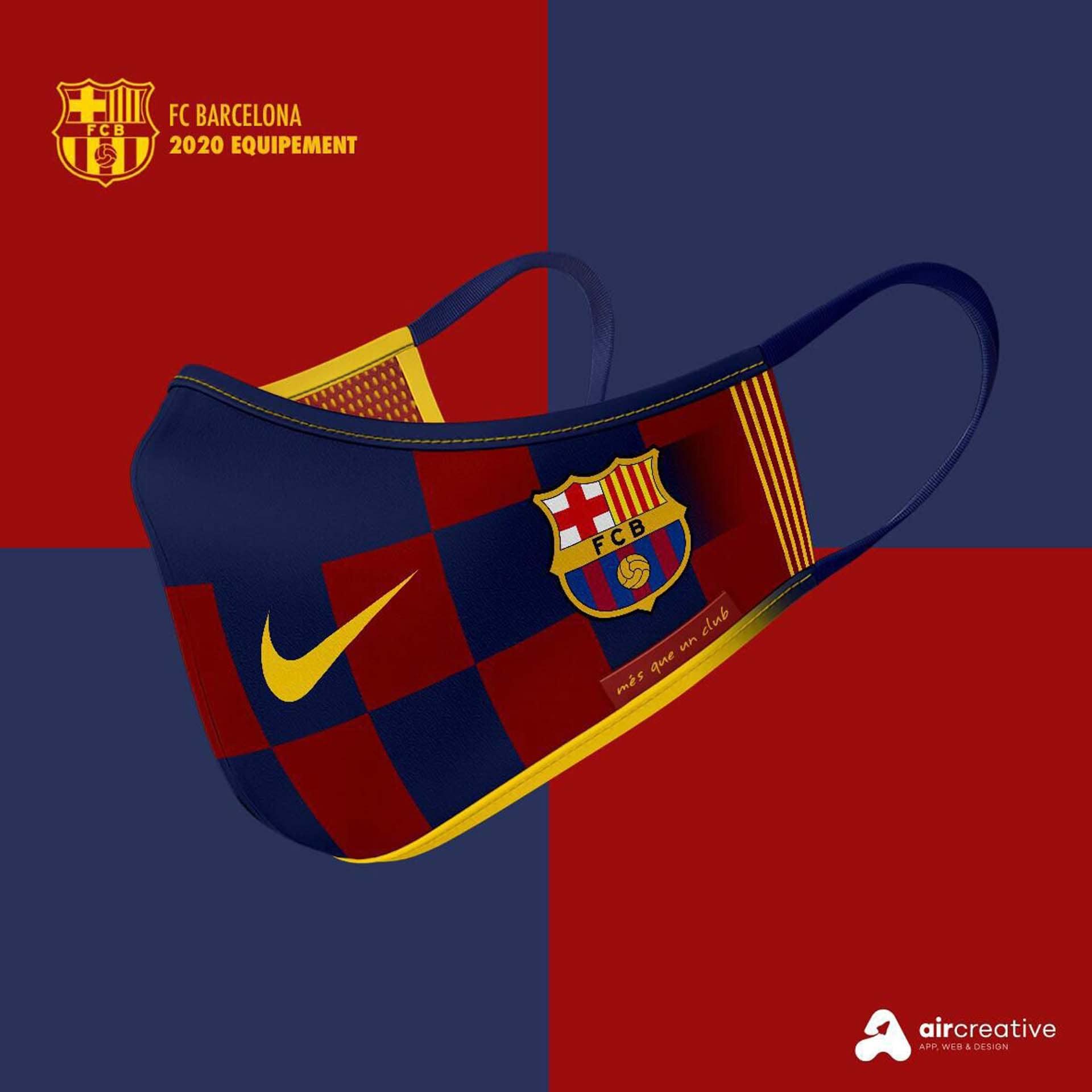 Así serían los tapabocas personalizados para los equipos españoles 5