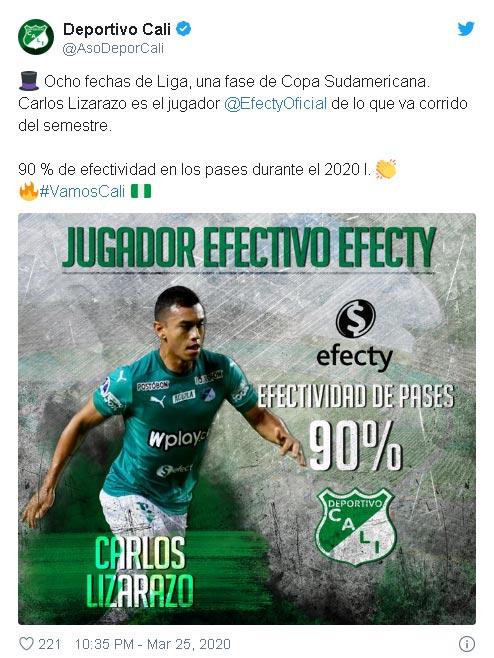 Lo mejor de Carlos Lizarazo en su regreso a Deportivo Cali: la efectividad 1