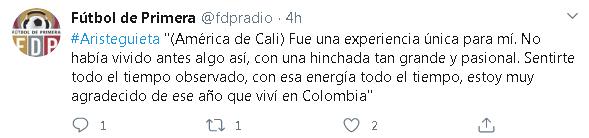 "Fernando Aristeguieta: ""América de Cali fue una experiencia única para mí"" 1"