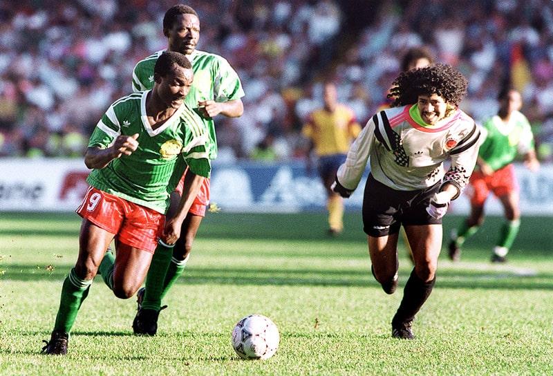 Camerún 2 - 1 Colombia, René Higuita, Mundial de Fútbol Italia 1990