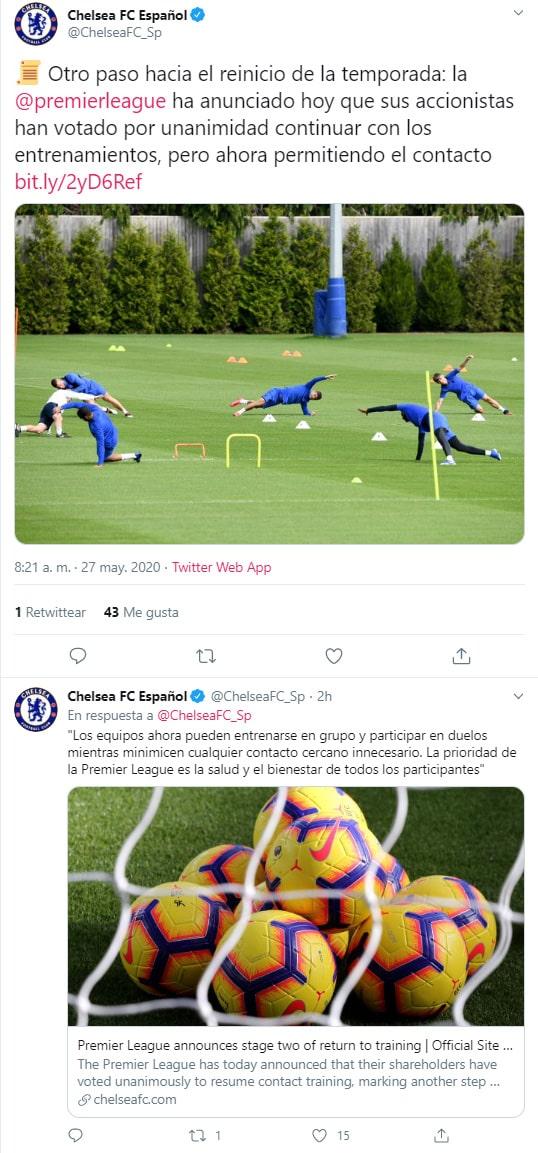Chelsea FC, Premier League, comunicado