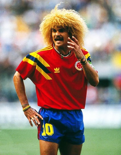 Colombia 1 - 1 Alemania, Carlos el 'Pibe' Valderrama, Mundial de Fútbol Italia 1990 (1)