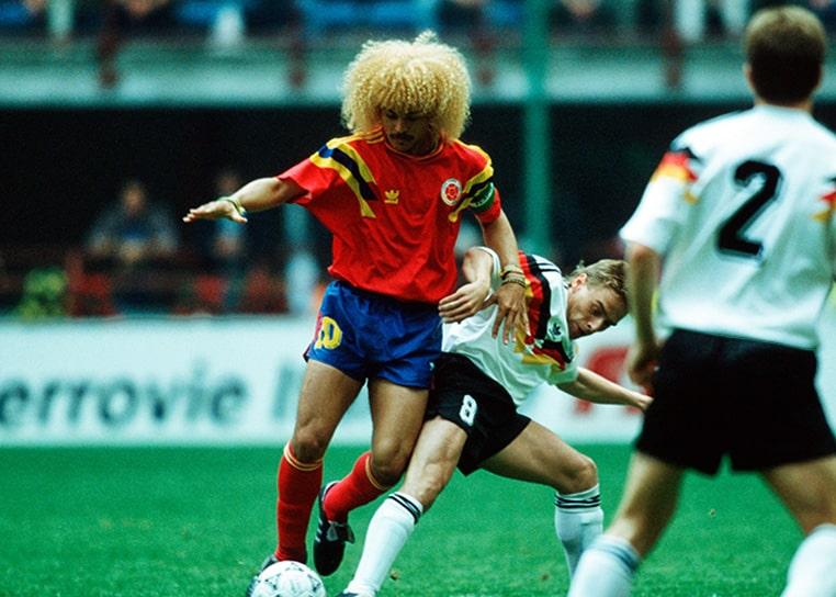 Colombia 1 - 1 Alemania, Carlos el 'Pibe' Valderrama, Mundial de Fútbol Italia 1990