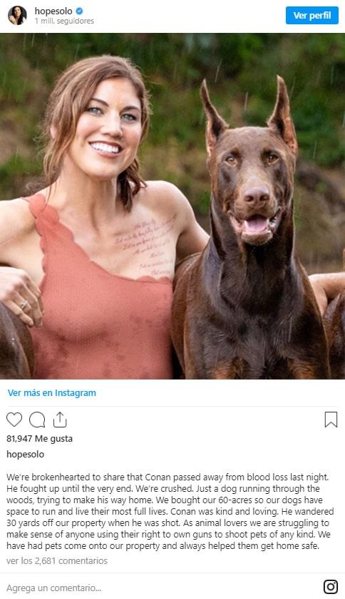 Hope Solo, perro