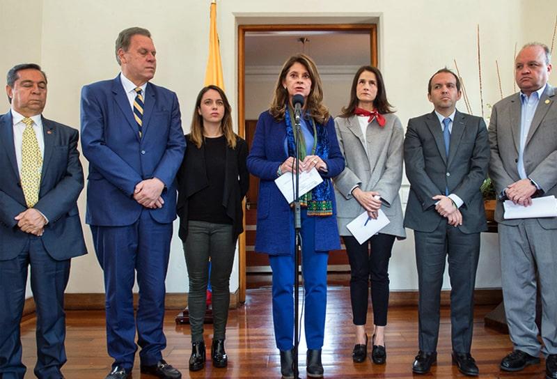 Ministerio del Deporte (Mindeporte), Ernesto Lucena, Ramón Jesurún, Federación Colombiana de Fútbol, Jorge Enrique Vélez, Dimayor