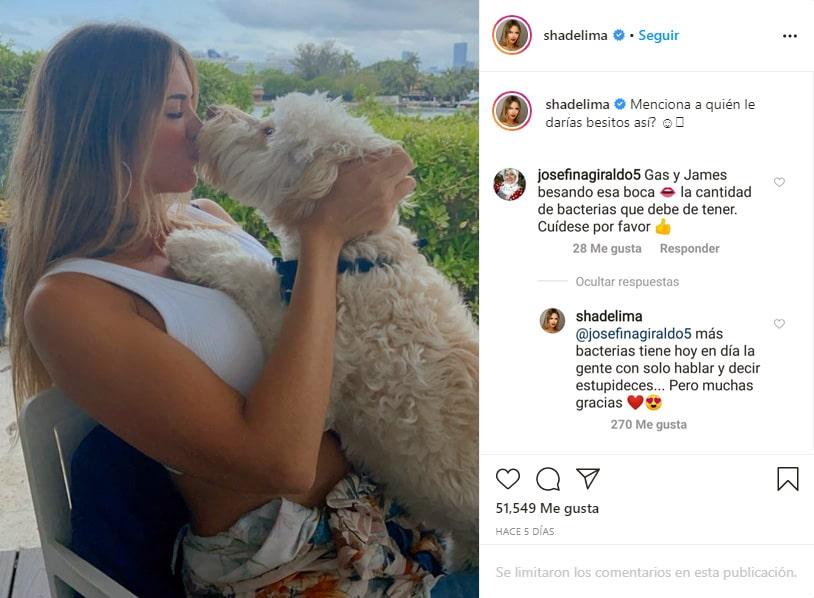 Shannon de Lima, James Rodríguez, besito, perro