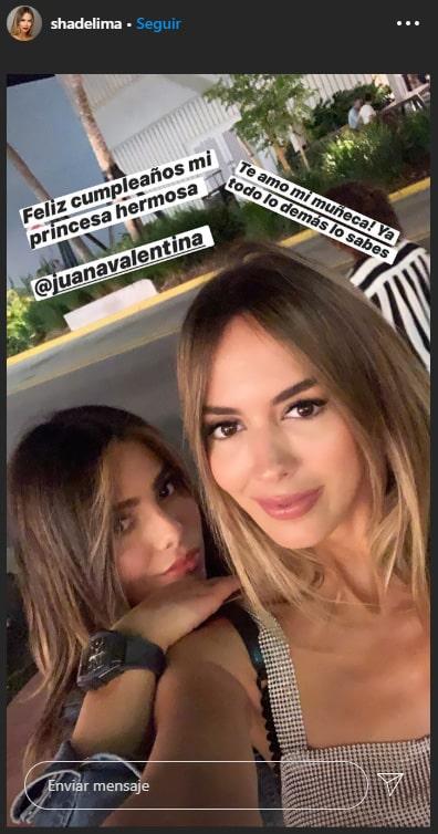 Shannon de Lima, Juana Valentina Restrepo, cumpleaños, felicitación