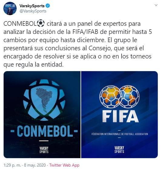Varsky Sports, Conmebol, FIFA