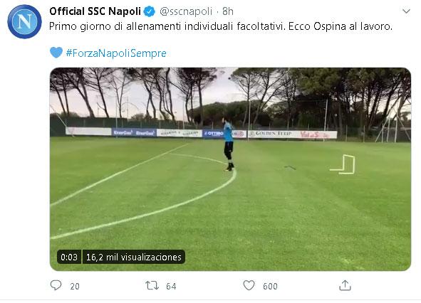 ¿Cortocircuito entre DT y Presidente del Napoli por David Ospina? 1